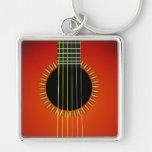 Gitarren-Hintergrund großes erstklassiges Keychain Schlüsselbänder