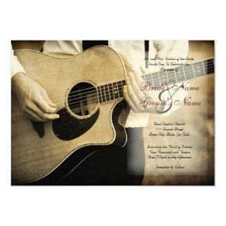 Gitarren-Hochzeits-Einladung 12,7 X 17,8 Cm Einladungskarte