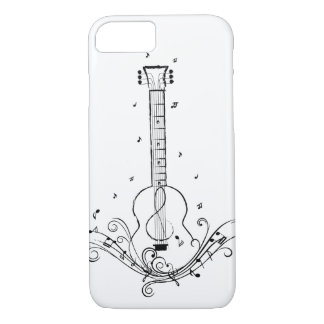 Gitarren-Musik-Blatt-Wirbel iPhone 8/7 Hülle