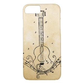 Gitarren-Musik-Blatt-Wirbels-Papierbeschaffenheit iPhone 8/7 Hülle