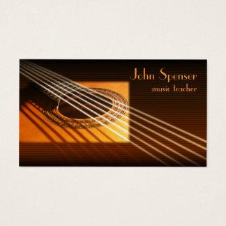 Gitarren-Musik-Tutor-Visitenkarte Visitenkarte