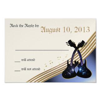 Gitarren-Musik UAWG 8,9 X 12,7 Cm Einladungskarte