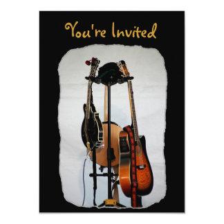 Gitarren-Musikinstrument-Einladungen 11,4 X 15,9 Cm Einladungskarte
