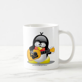 Gitarren-Pinguin Kaffeetasse