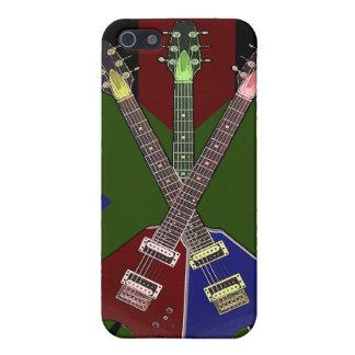 Gitarren-Reißwolf des Fliegen-V iPhone 5 Schutzhülle