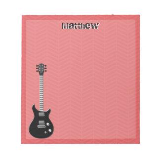 Gitarren-Rockstar Notizblock