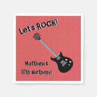 Gitarren-Rockstar Papierserviette