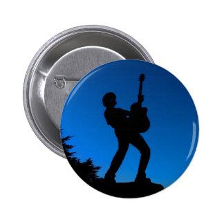Gitarren-Silhouette Runder Button 5,7 Cm