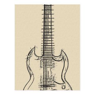 Gitarren-Skizze Postkarte