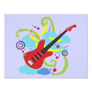 Gitarren-Solo-Traum 10,8 X 14 Cm Einladungskarte