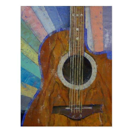 Gitarren-Sonnenschein Postkarte