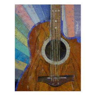 Gitarren-Sonnenschein Postkarten