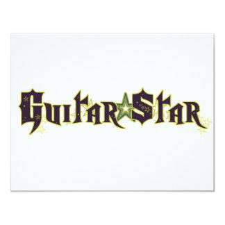 Gitarren-Stern 10,8 X 14 Cm Einladungskarte
