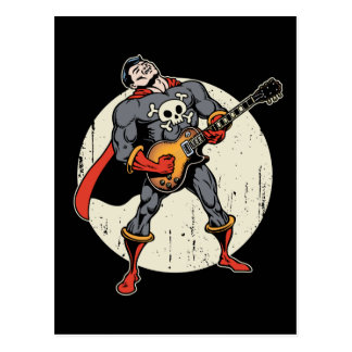Gitarren-Superheld Postkarte