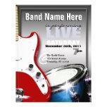 Gitarren-Trommel-rote u. blaue Konzert-oder Ort-Fl Vollfarbige Flyer