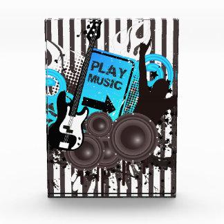 Gitarren-u. Lautsprecher-Zeit zum Party Acryl Auszeichnung