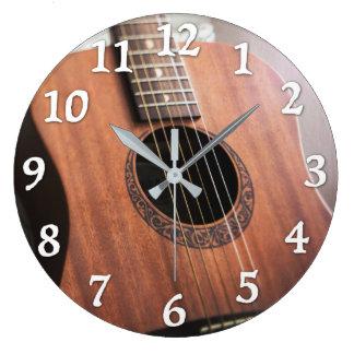 Gitarren-Uhr Große Wanduhr