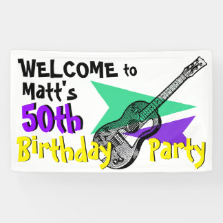 Gitarren-Willkommen zur 50. Banner