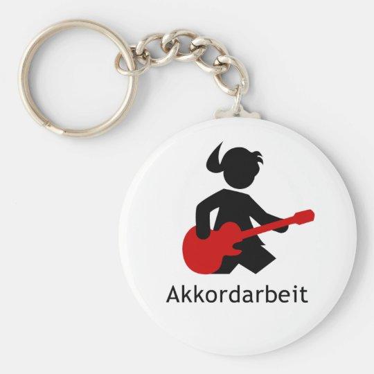 "Gitarrengöttin ""Akkordarbeit""von Emma Shirt Schlüsselanhänger"