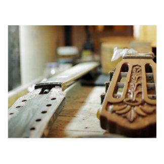Gitarrengriffe, die flachen dof reparieren postkarte