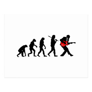 Gitarrenspieler-Evolution Postkarte