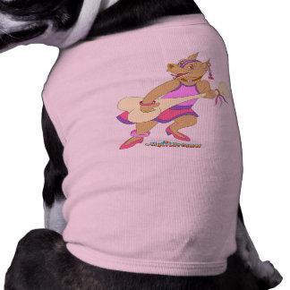 Gitarrist-Bulldoggen-Mädchen Hundbekleidung
