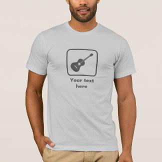 Gitarrist -- Graues Logo -- Kundengerecht T-Shirt