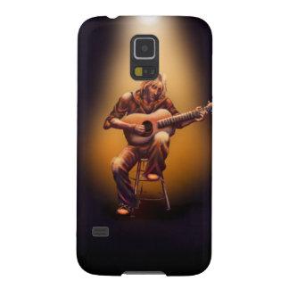 Gitarrist in der Orange Galaxy S5 Cover