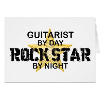 Gitarrist-Rockstar bis zum Nacht Karte