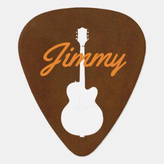Gitarristhandgeschriebenes Schriftart-Ähnliches Plektrum
