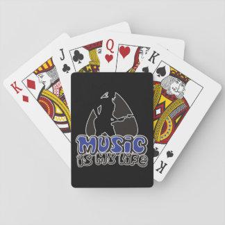 GitarristPlectrum - Musik ist mein Leben Spielkarten
