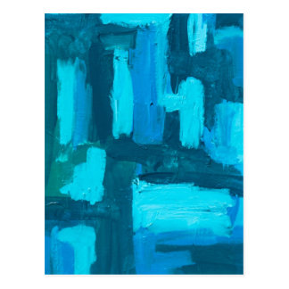 Gitter-abstraktes Painterly Acryl Postkarte