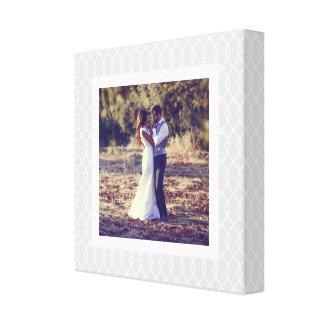 Gitter-gerahmtes Hochzeits-Foto des Chic-Grau-  Leinwanddruck