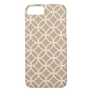 Gitter Mandel-Browns geometrischer iPhone 7 Fall iPhone 8/7 Hülle