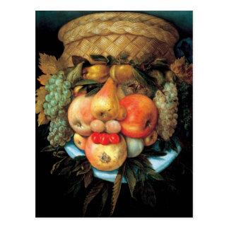 Giuseppe Arcimboldo - Obstkorb Postkarte