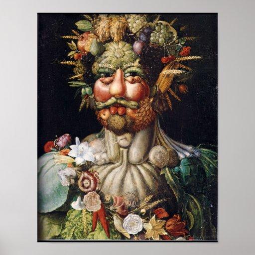 Giuseppe ArcimboldoVertumnus Gemüse-Man-Plakat