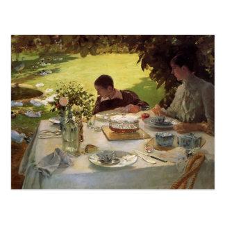 Giuseppe de Nittis- Breakfast im Garten Postkarten