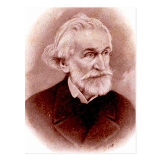 GIUSEPPE VERDI (Postkarte des Porträts ab Anfang Postkarte