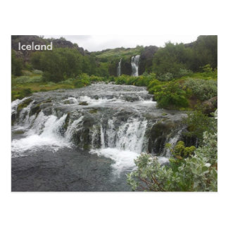 Gjáin Wasserfall in Þjórsárdalur Tal, Island Postkarte
