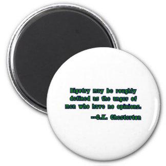 GK Chesterton und Fanatismus Runder Magnet 5,1 Cm