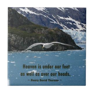 Glacier Bay mit Vogel-/Thoreauzitat Fliese