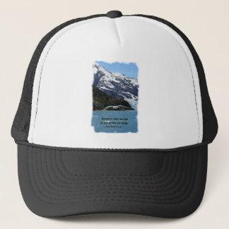 Glacier Bay mit Vogel-/Thoreauzitat Truckerkappe