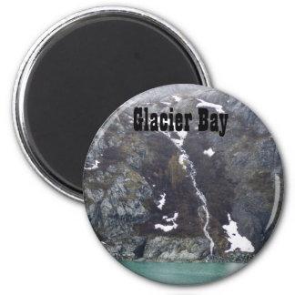 Glacier Bay-Wasserfall-Magnet Runder Magnet 5,1 Cm