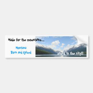Glacier Nationalpark, gemacht für die Berge ..... Autoaufkleber