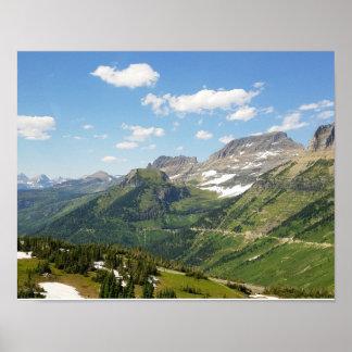 Glacier Nationalpark Poster