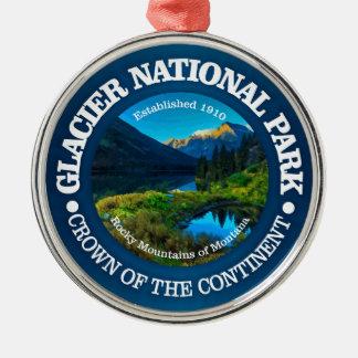 Glacier Nationalpark Silbernes Ornament