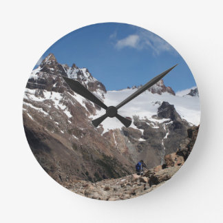Glacier Nationalparkberge, Argentinien 2 Runde Wanduhr