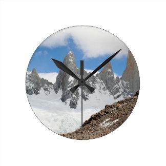 Glacier Nationalparkberge, Argentinien Runde Wanduhr