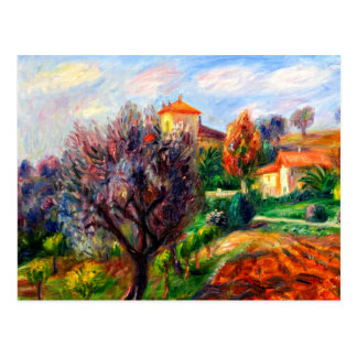 Glackens - Abhang mit Olivenbäumen Postkarte