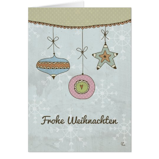 Glad Christmas Karte